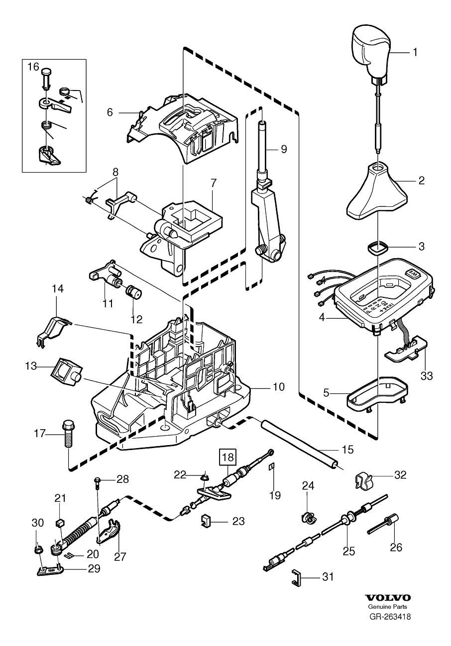 2001 Volvo V70 Xc 2 4l 5 Cylinder Turbo Rocker Arm  Shift  Gearshift  Control