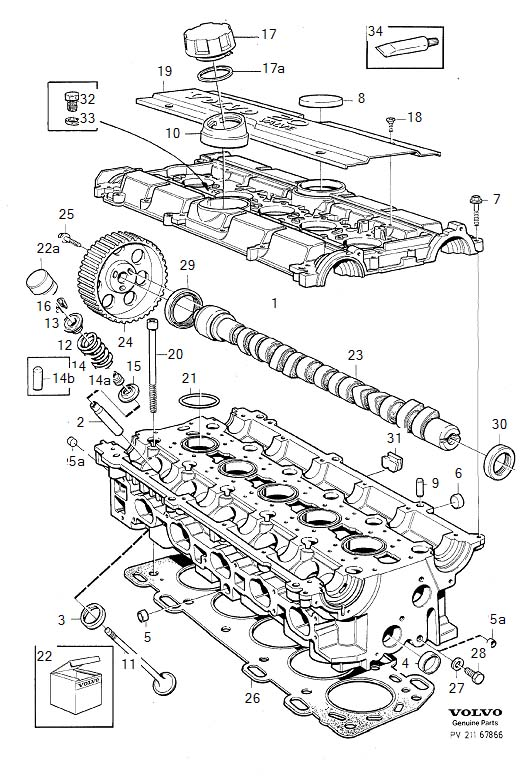 Diagram Cylinder head for your Volvo